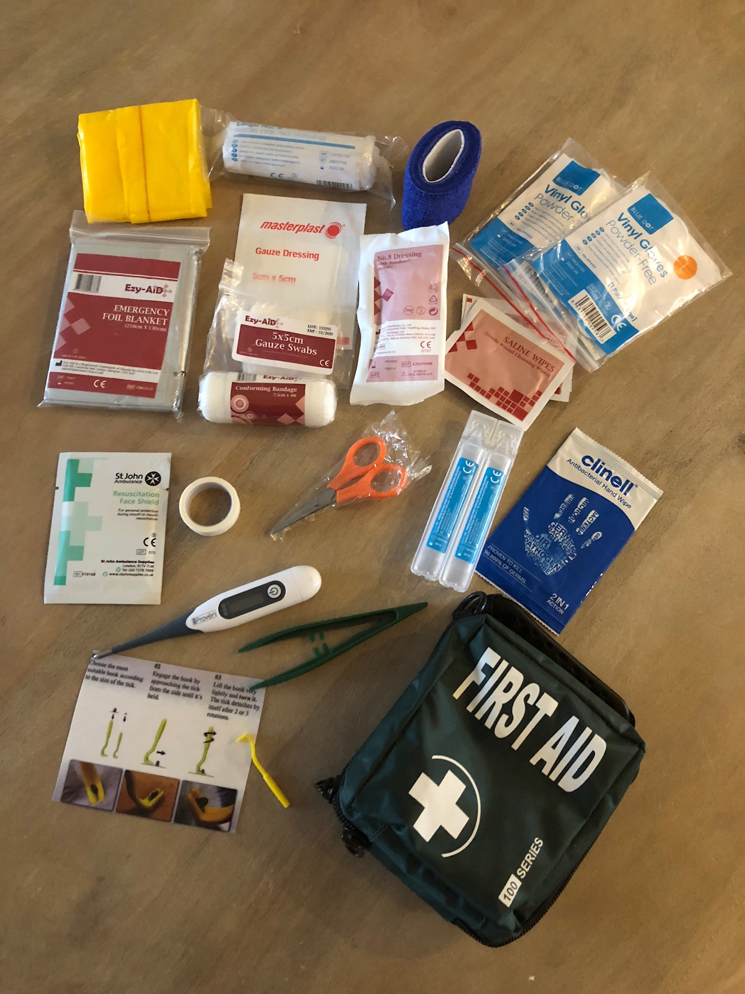 First Aid contents